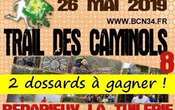 Photo de 2 dossards Trail des Caminols 2019 (Hérault)