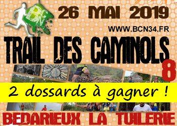 2 dossards Trail des Caminols 2019 (Hérault)