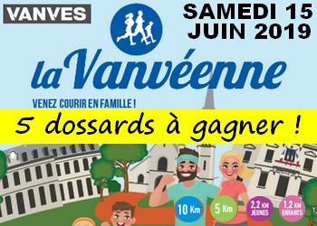 5 dossards Vanvéenne 2019 (Hauts de Seine)