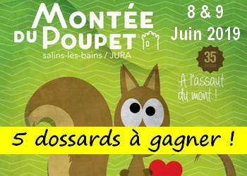 5 dossards Montée du Poupet 2019 (Jura)