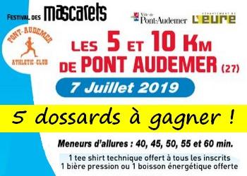 5 dossards 5 et 10 km des Mascarets 2019 (Eure)