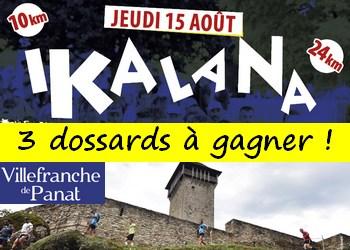 3 dossards Ikalana – Trail du Lévézou 2019 (Aveyron)