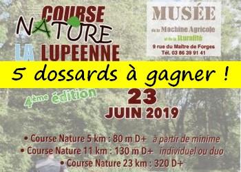 5 dossards Lupéenne 2019 (Nièvre)