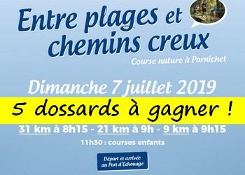 5 dossards Trail Entre Plages et chemins creux 2019 (Loire Atlantique)