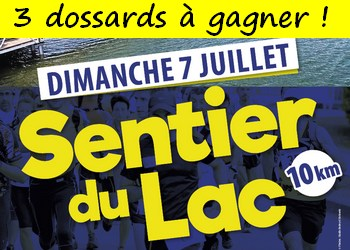 3 dossards Sentier du Lac 2019 (Aveyron)
