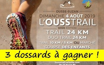 Photo of 3 dossards Ousstrail 2019 (Landes)