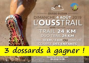 3 dossards Ousstrail 2019 (Landes)