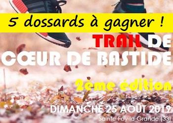 5 dossards Trail de Coeur de Bastide 2019 (Gironde)