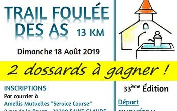 Photo of 2 dossards Foulée des As 2019 (Jura)