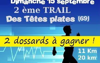 Photo of 2 dossards Trail des têtes plates 2019 (Rhône)