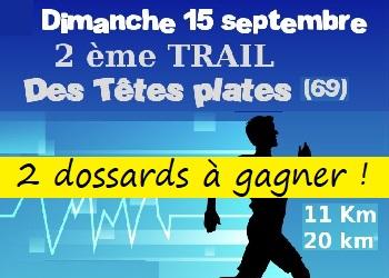2 dossards Trail des têtes plates 2019 (Rhône)