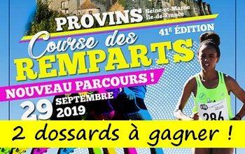 Photo of 2 dossards Course des remparts de Provins 2019 (Seine et Marne)