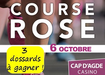 3 dossards Course Rose 2019 (Hérault)