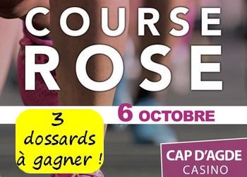 3 dossards Course Rose 2019 (Hérault)