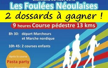 Photo of 2 dossards Foulées Néoulaises 2019 (Var)