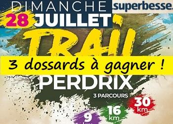 3 dossards Trail Envol de la Perdrix 2019 (Puy de Dôme)