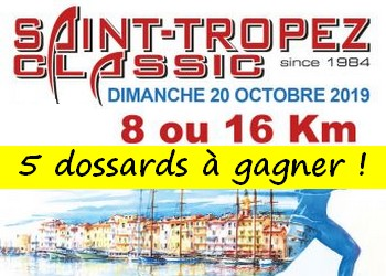 5 dossards Saint-Tropez Classic 2019 (Var)