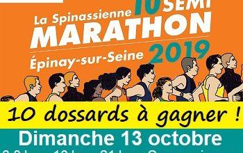 Photo of 10 dossards Spinassienne, semi-marathon d Épinay-sur-Seine 2019 (Seine Saint Denis)