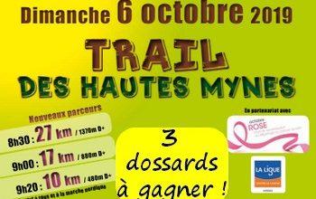 Photo of 3 dossards Trail des hautes Mynes 2019 (Vosges)