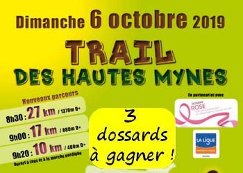 3 dossards Trail des hautes Mynes 2019 (Vosges)