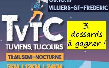Photo of 3 dossards TVTC Tu Viens Tu Cours 2019 (Yvelines)