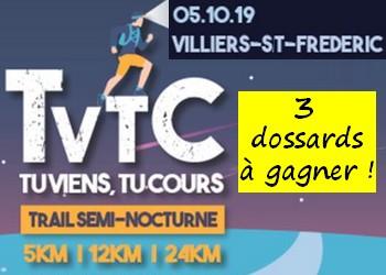 3 dossards TVTC Tu Viens Tu Cours 2019 (Yvelines)