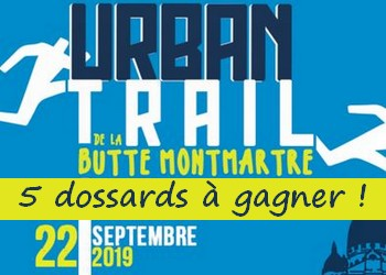 5 dossards Urban Trail de la Butte Montmartre 2019 (Paris)