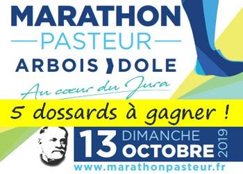 5 dossards Marathon du Pays de Pasteur 2019 (Jura)