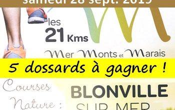 Photo of 5 dossards 21 km Mer, Monts et Marais 2019 (Calvados)