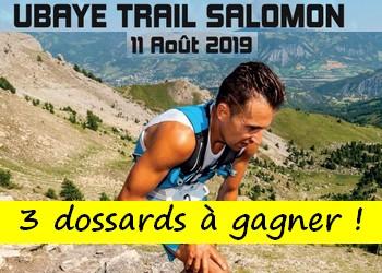 3 dossards Ubaye Trail Salomon 2019 (Alpes de Haute Provence)