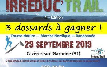Photo of 3 dossards Irreduc Trail 2019 (Haute Garonne)