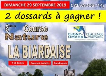 2 dossards La Biardaise 2019 (Calvados)