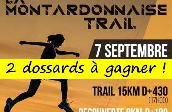 Photo of 2 dossards Montardonnaise trail 2019 (Pyrénées Atlantiques)