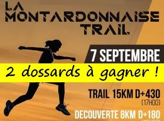 2 dossards Montardonnaise trail 2019 (Pyrénées Atlantiques)