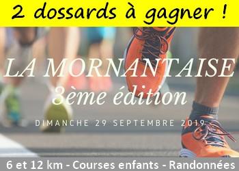 2 dossards Mornantaise 2019 (Rhône)