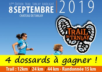 4 dossards Trail Tanlay Raidlight 2019 (Yonne)