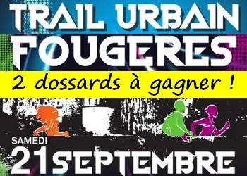 2 dossards Trail urbain de Fougères 2019 (Ille et Vilaine)