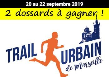 2 dossards Trail urbain de Marseille 2019 (Bouches du Rhône)