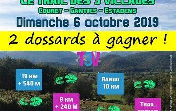 Photo of 2 dossards Trail des 3 villages 2019 (Haute Garonne)