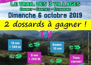2 dossards Trail des 3 villages 2019 (Haute Garonne)
