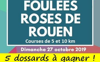 Photo of 5 dossards Foulées Roses de Rouen 2019 (Seine Maritime)