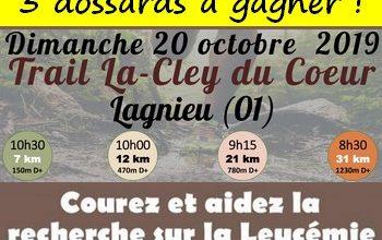 Photo of 3 dossards Trail de La-Cley du Coeur 2019 (Ain)