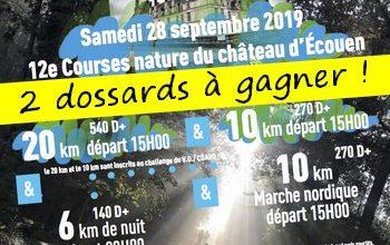 Photo of 2 dossards Courses Nature du Château d Ecouen 2019 (Val d'Oise)