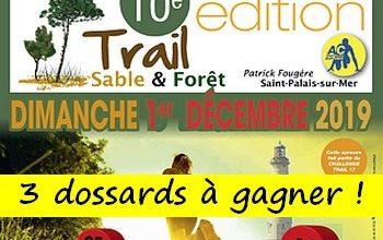 Photo of 3 dossards Trail sable et forêt Patrick Fougère 2019 (Charente Maritime)