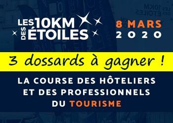 3 dossards 10 km des étoiles 2020 (Paris)