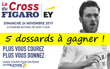 Photo of 5 dossards Cross du Figaro 2019 (Hauts de Seine)