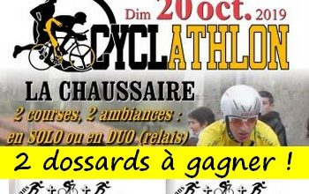 Photo of 2 dossards Cycl Athlon de La Chaussaire 2019 (Maine et Loire)
