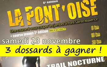 Photo of 3 dossards Trail la Pontoise 2019 (Oise)