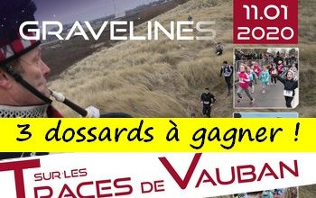 Photo of 3 dossards Sur les traces de Vauban 2020 (Nord)
