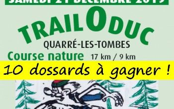 Photo of 10 dossards Trail O Duc 2019 (Yonne)